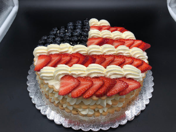 """PATRIOTIC"" Layered Cream Tart"