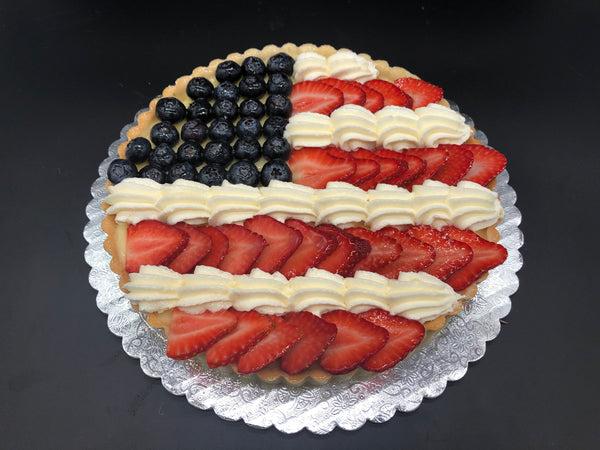 """Patriotic"" Fresh Fruit Tart"
