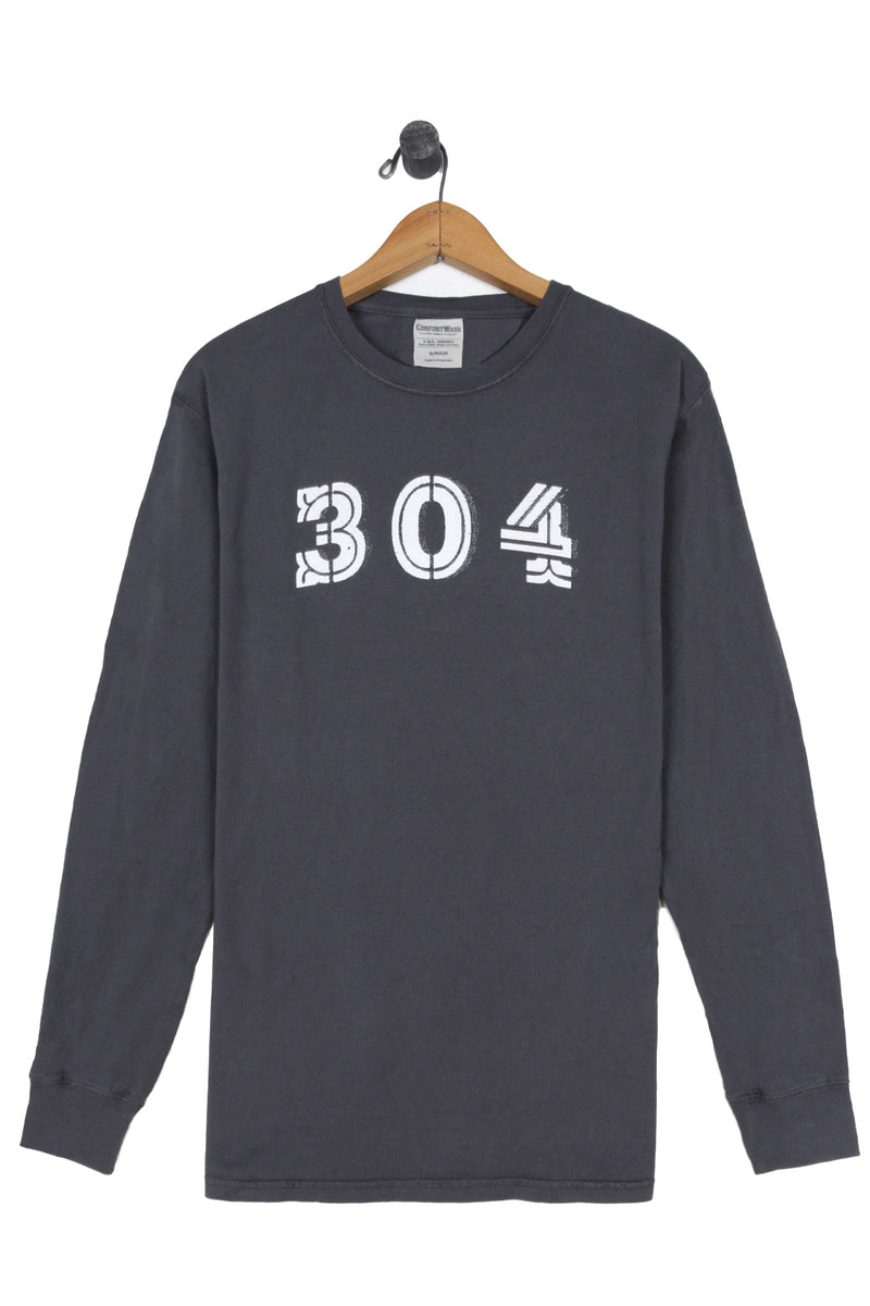 304 long sleeve tee, railroad grey