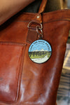 take the back roads keychain