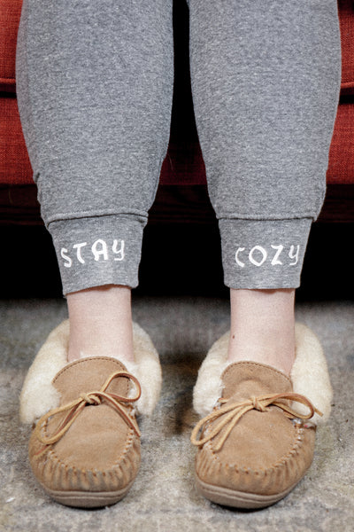 official cozy pants, grey cuff