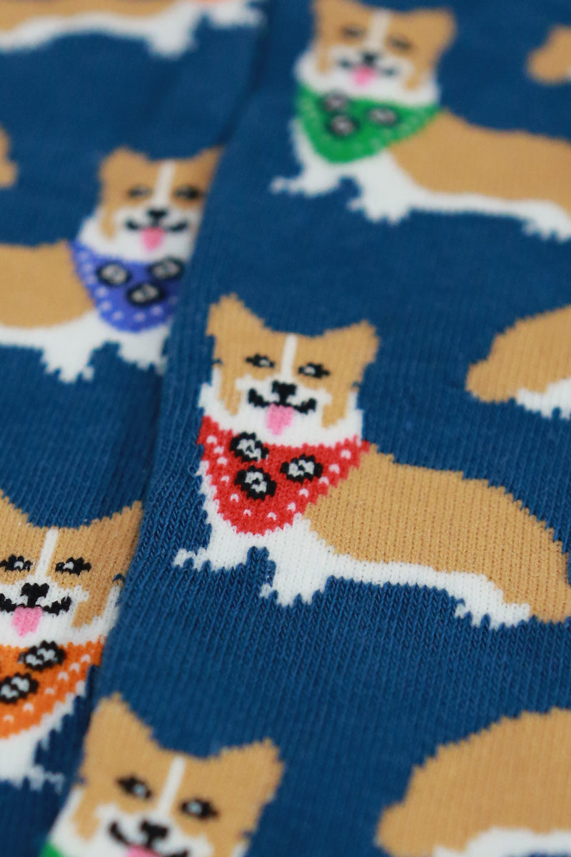 mens corgi socks