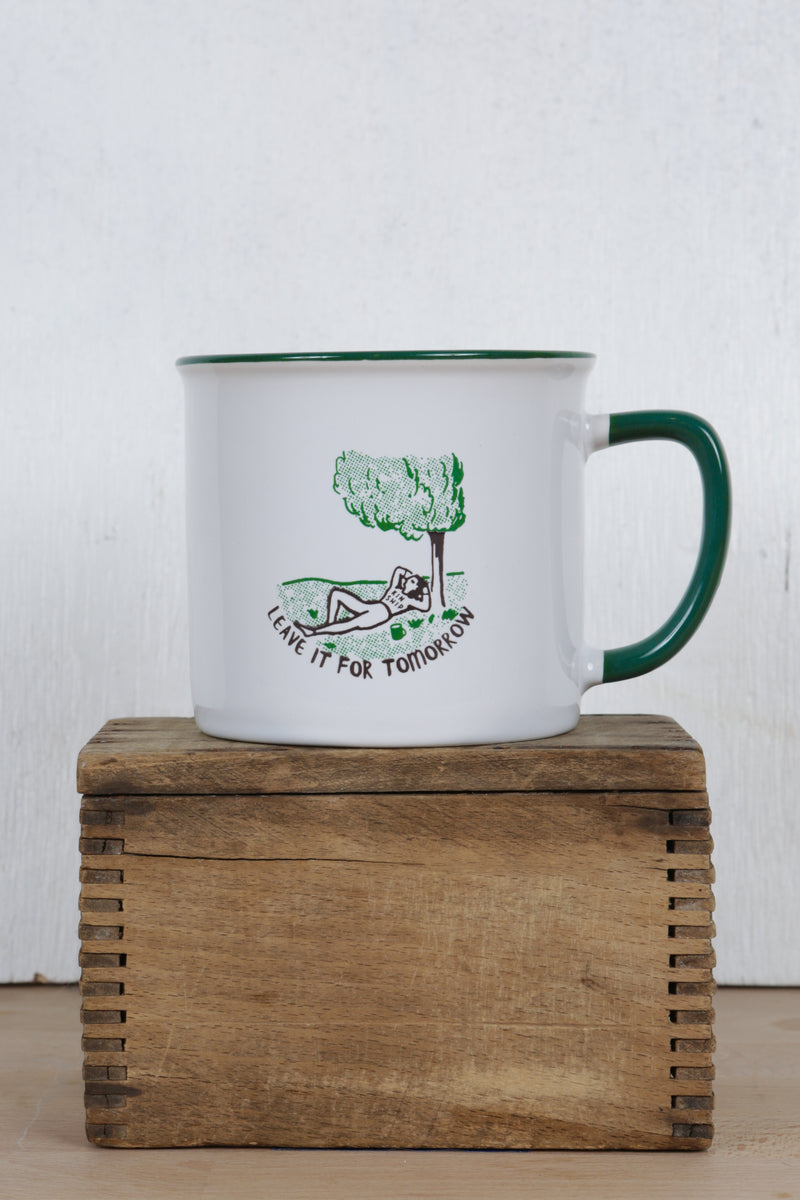 leave it for tomorrow mug, final sale