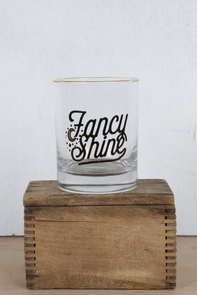 fancy shine lowball glass