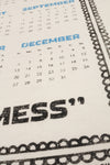 oops! tea towel calendar