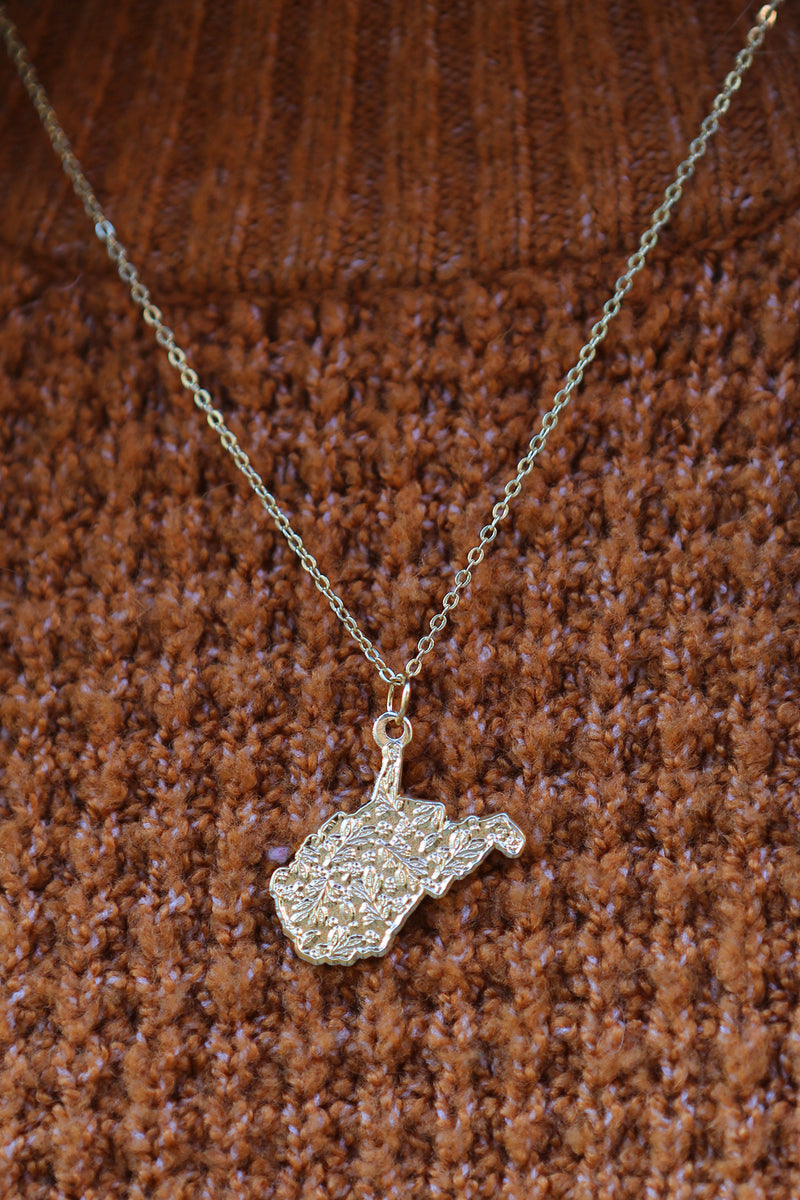 mountain state necklace - gold, final sale