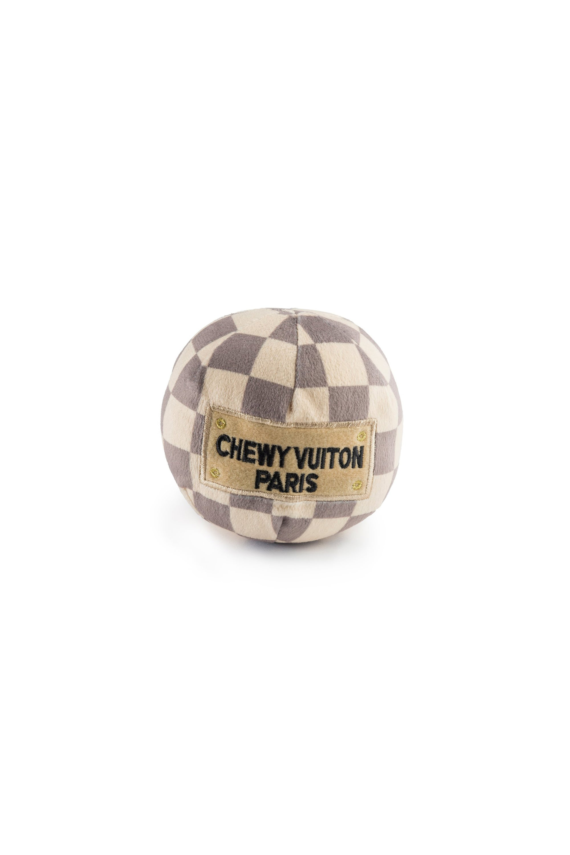chewy vuiton dog toy checkered, final sale