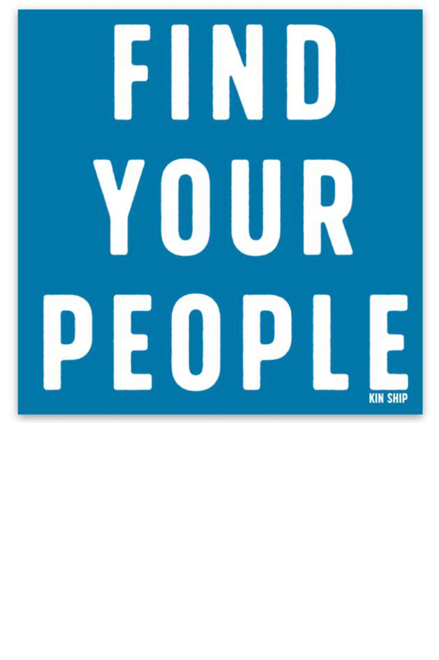 find your people sticker