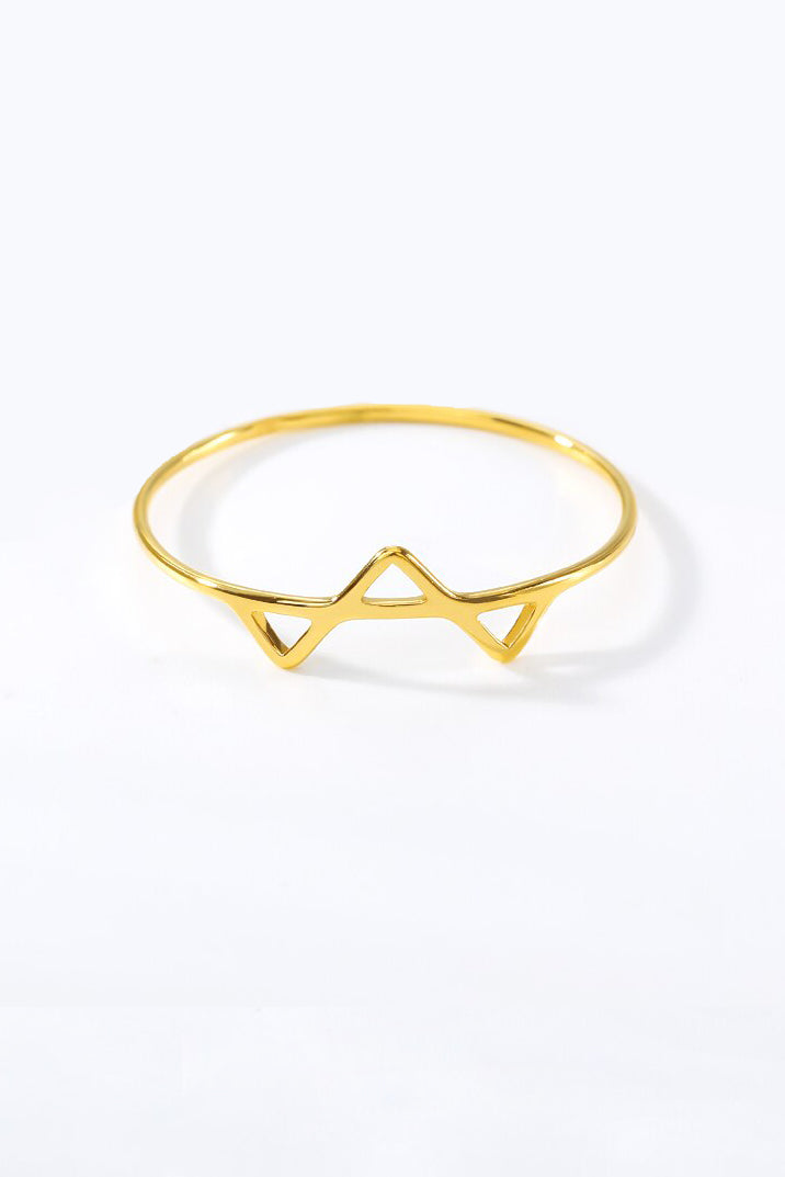 triangle ring - gold, final sale