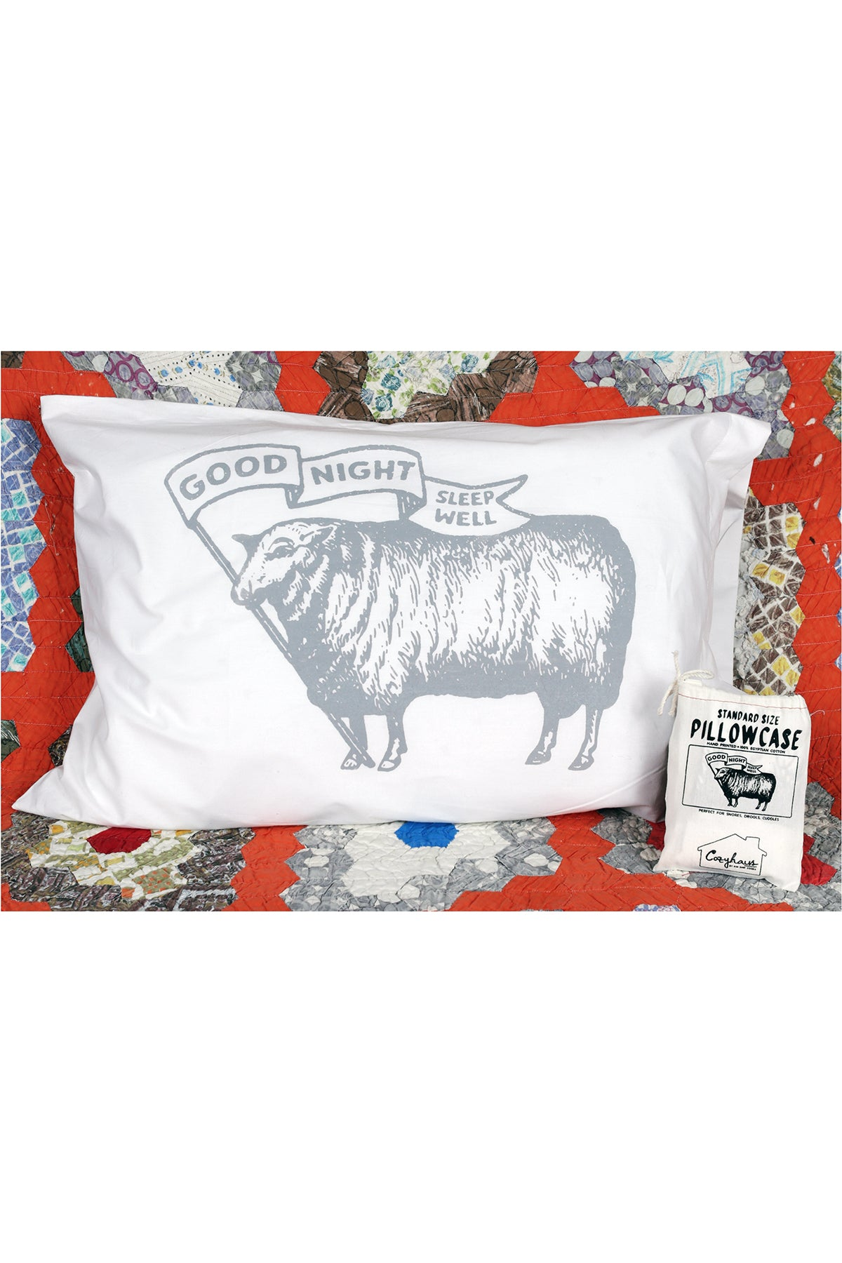 sleep well sheep pillowcase