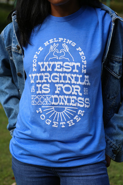 WV is for Kindness tee, blue