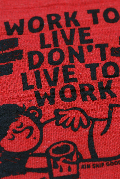 work to live shop rag