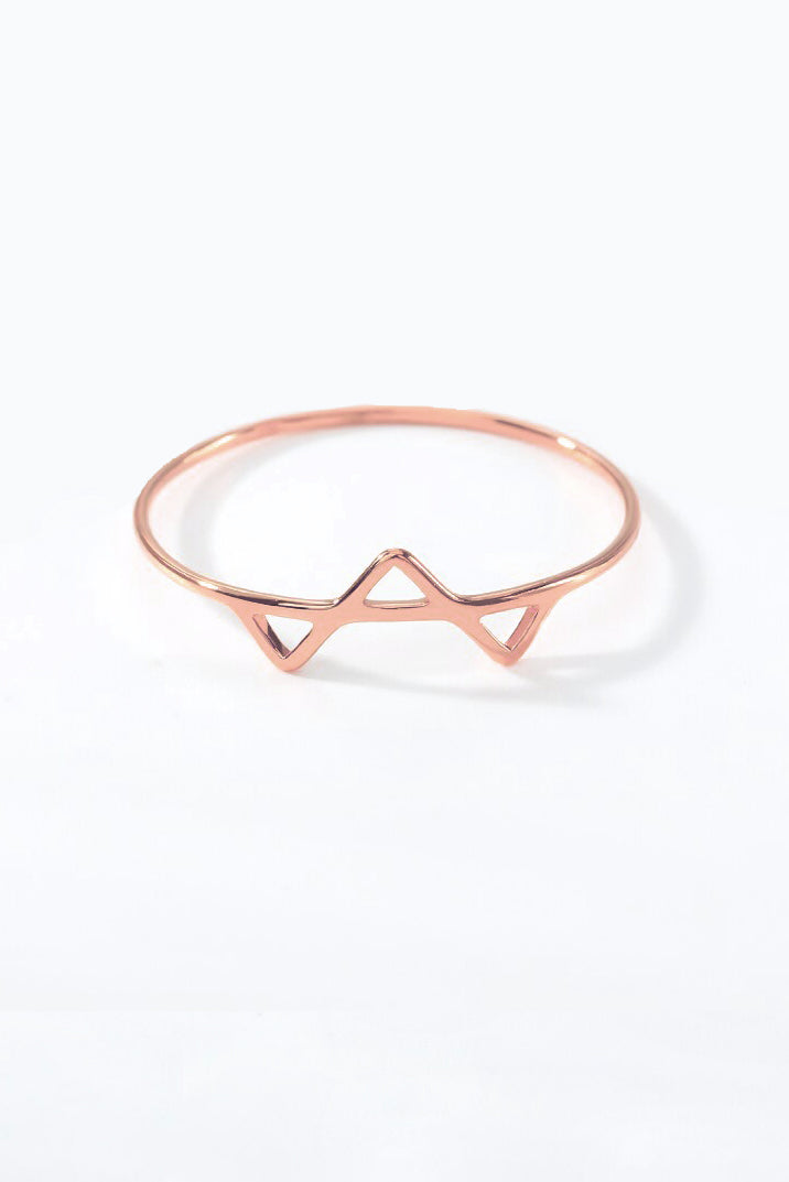 triangle ring - rose, final sale
