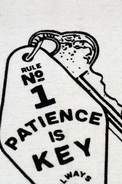 patience is key shop rag