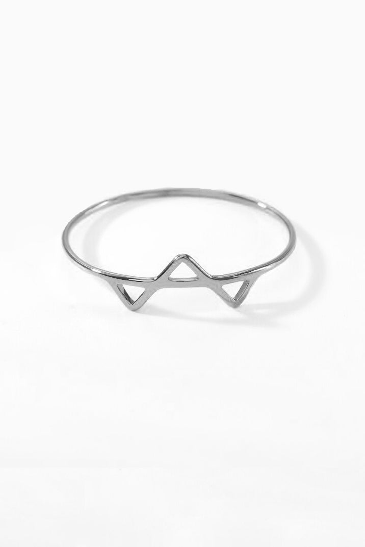 triangle ring - silver, final sale