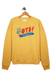 vote sweatshirt, gold