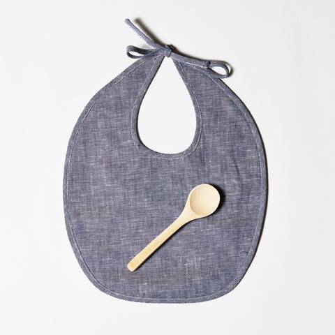 Linen Bib or Set - Indigo