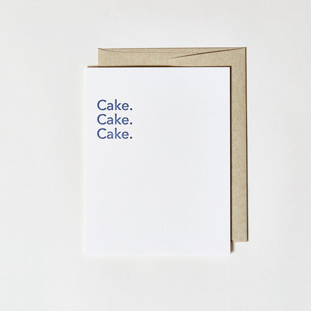 Letterpress Greeting Card - Cake Cake Cake