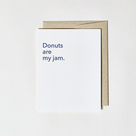 Letterpress Greeting Card - Donuts are my jam