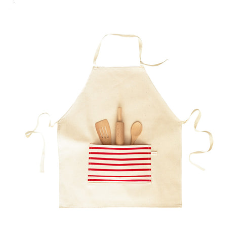 Kids Apron- Red Stripe