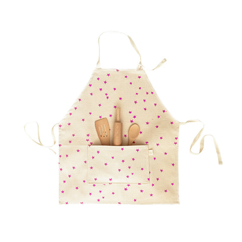 Kids Apron- Pink Star
