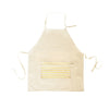 Kids Apron- Gold Foil Stripe on Natural