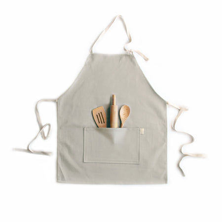 Kids Apron - Taupe Brushed Twill