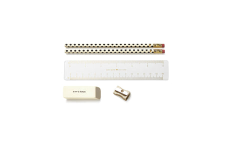 Kate Spade Pencil Pouch Gold Dots - Neapolitan Homewares