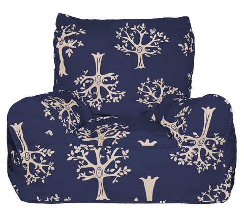 Lelbys Bean Chair - Navy Orchard - Neapolitan Homewares