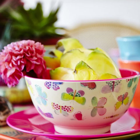 RICE melamine two tone bowl - Butterfly