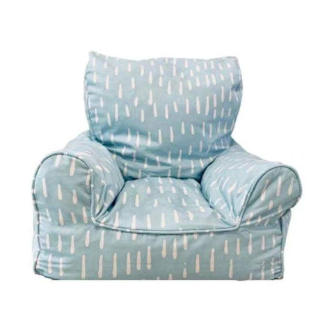 Lelbys Bean Chair - Aqua Blue Raindrops - Neapolitan Homewares