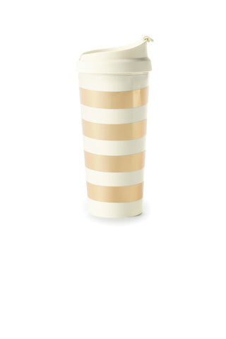 Kate Spade Thermal Mug - Gold Stripe - Neapolitan Homewares