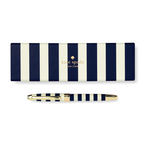 Kate Spade Ballpoint Pen - Navy Stripe - Neapolitan Homewares