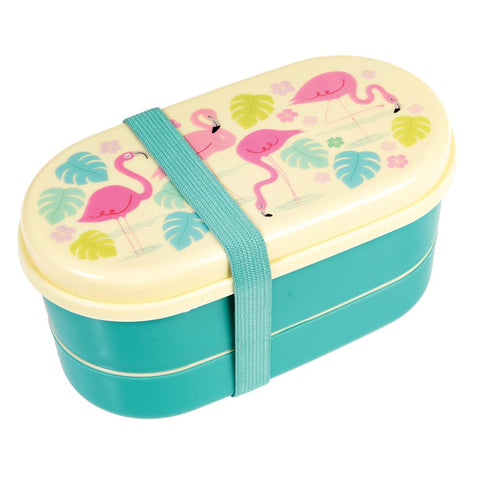 Rex London Bento Box - Flamingo Bay - Neapolitan Homewares