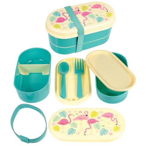 Rex London Bento Box - Flamingo Bay