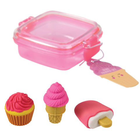 Rex London Mini Eraser set - Sweet Treats - Neapolitan Homewares
