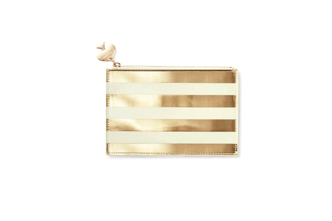 Kate Spade Pencil Pouch Gold Stripe - Neapolitan Homewares