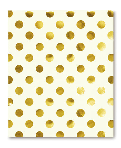 Kate Spade Spiral Notebook Gold Dots - Neapolitan Homewares