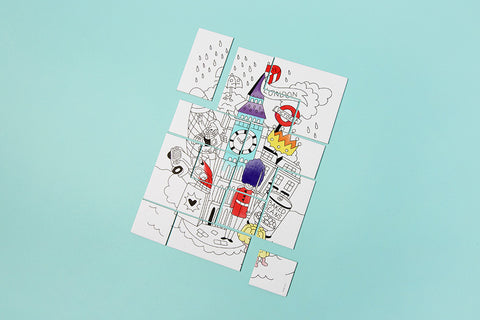 OMY Design & Play Colouring Jigsaw Puzzle - Neapolitan Homewares