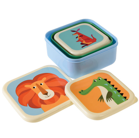 Rex London Snack Boxes - Creatures (set of 3)