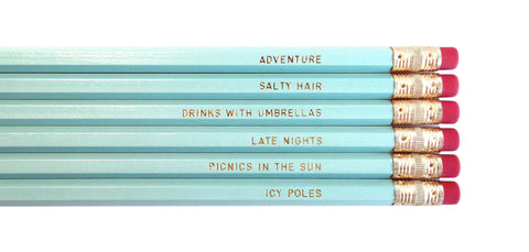 August & Co Pencil Set - Aussie Summer - Neapolitan Homewares