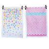 Tea Towels twin pack - Confetti & Chevron pink - Neapolitan Homewares