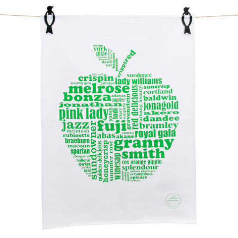 Tea Towels - Green apple