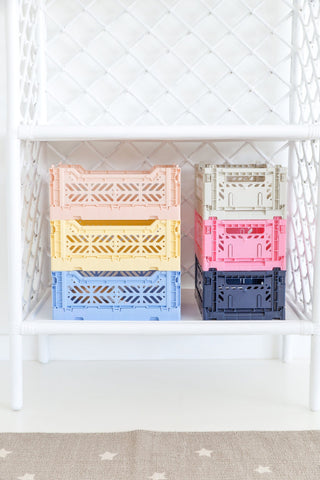 Lillemor Ay-Kasa Mini Folding Crate Baby Blue - Neapolitan Homewares