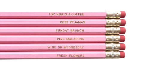August & Co Pencil Set - Favourite Things - Neapolitan Homewares
