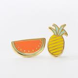 Yellow Owl Earrings - Fruits