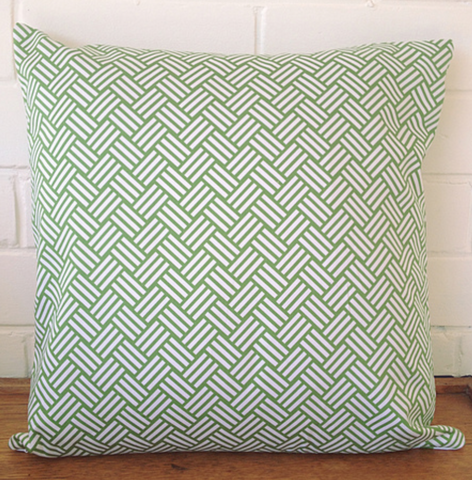 Black Eyed Susie cushion - grass green swell