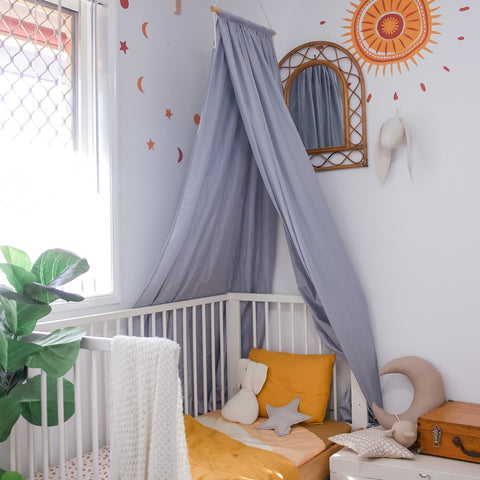 Hope and Jade Drape Canopy - Grey PREORDER