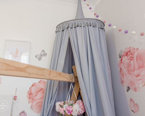 Hope and Jade Round Canopy - Grey PREORDER - Neapolitan Homewares