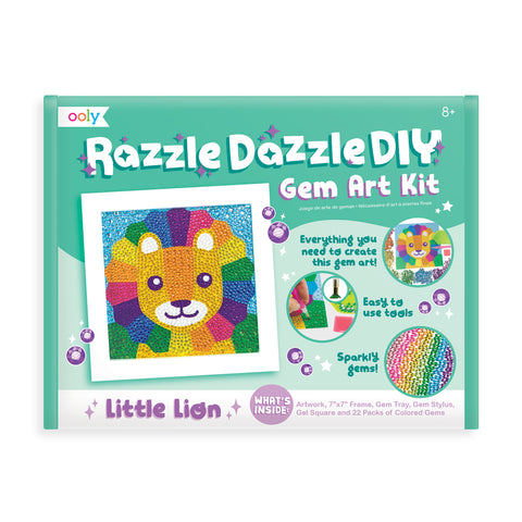 Ooly Razzle Dazzle DIY Gem Art Kit - Lion - Neapolitan Homewares